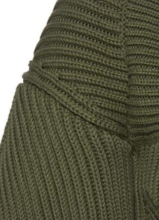 - ALEXANDER MCQUEEN - Square neck puff sleeve sweater