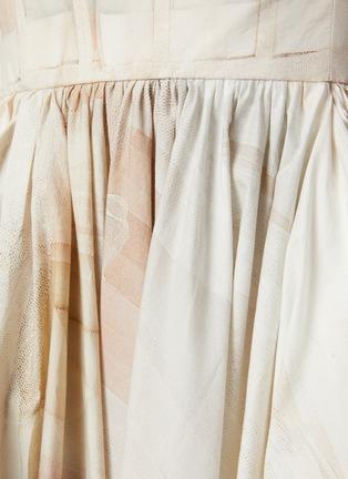 - ALEXANDER MCQUEEN - Sleeveless Scoop Neck Watercolour Print Pleated Dress