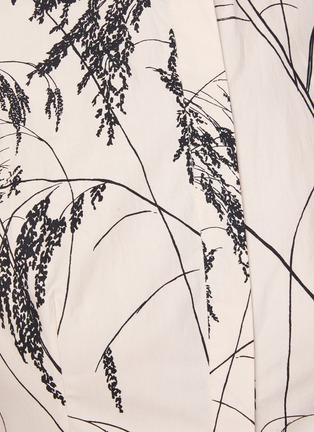 - ALEXANDER MCQUEEN - Willow Print Back Slit Balloon Sleeve Pleated Cotton Dress