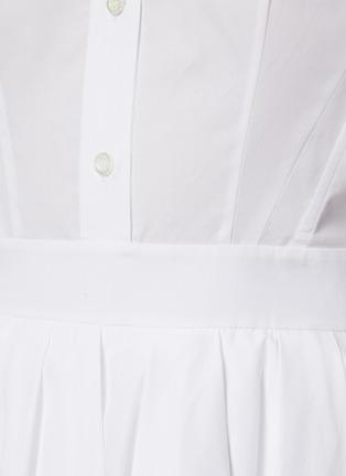 - ALEXANDER MCQUEEN - Sculpted Open Collar Puff Sleeve Ruffled Dress