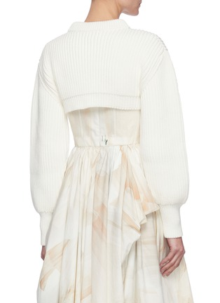 Back View - Click To Enlarge - ALEXANDER MCQUEEN - Mock neck crop sweater