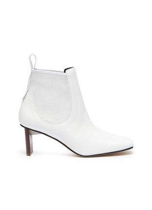 Main View - Click To Enlarge - LOEWE - Block Heel Leather Insert Chelsea Boots