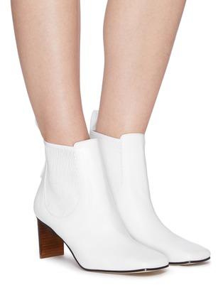 Figure View - Click To Enlarge - LOEWE - Block Heel Leather Insert Chelsea Boots