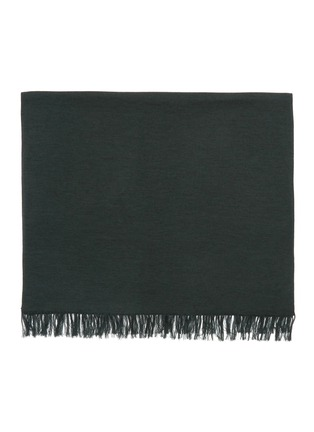 Detail View - Click To Enlarge - DREYDEN - Duo-tone Double Face Fringe Scarf