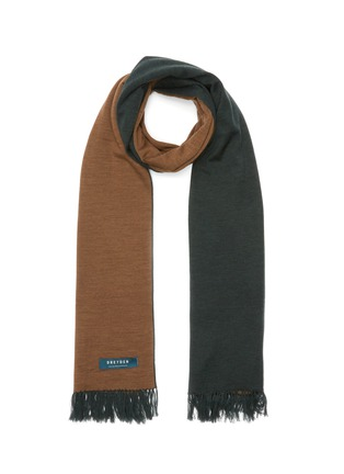 Main View - Click To Enlarge - DREYDEN - Duo-tone Double Face Fringe Scarf
