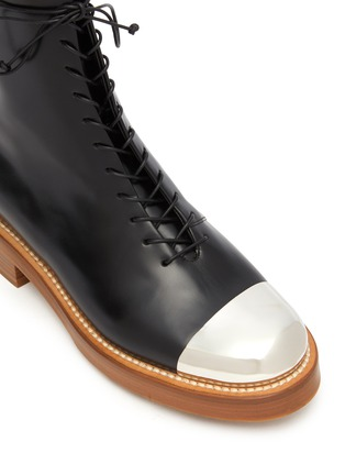 Detail View - Click To Enlarge - GABRIELA HEARST - Riccardo' metal toe leather boots