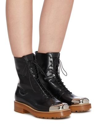 Figure View - Click To Enlarge - GABRIELA HEARST - Riccardo' metal toe leather boots