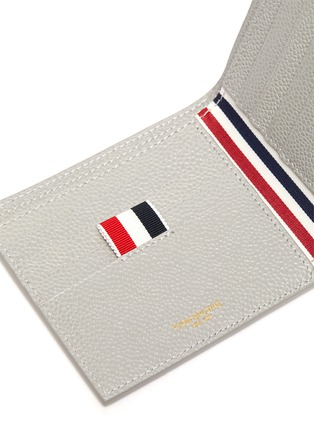 Detail View - Click To Enlarge - THOM BROWNE - Diagonal stripe bifold leather wallet