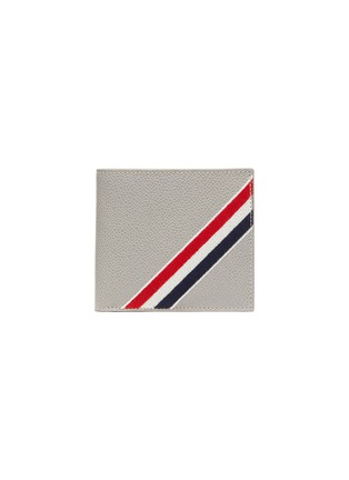 Main View - Click To Enlarge - THOM BROWNE - Diagonal stripe bifold leather wallet