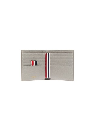 Figure View - Click To Enlarge - THOM BROWNE - Diagonal stripe bifold leather wallet