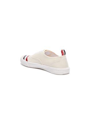 - THOM BROWNE - Tricolour Stripe Low Top Heritage Sneakers