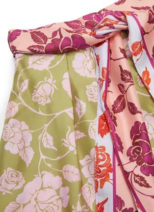 - ZIMMERMANN - 'The Lovestruck' Contrast Floral Graphic Print Silk Shirt
