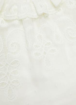 - ZIMMERMANN - 'The Lovestruck' Ruffle Trim Floral Jacquard Blouse