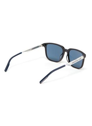 Figure View - Click To Enlarge - DIOR - 'DiorTag SU' Tri-tone Acetate Rectangular Frame Sunglasses
