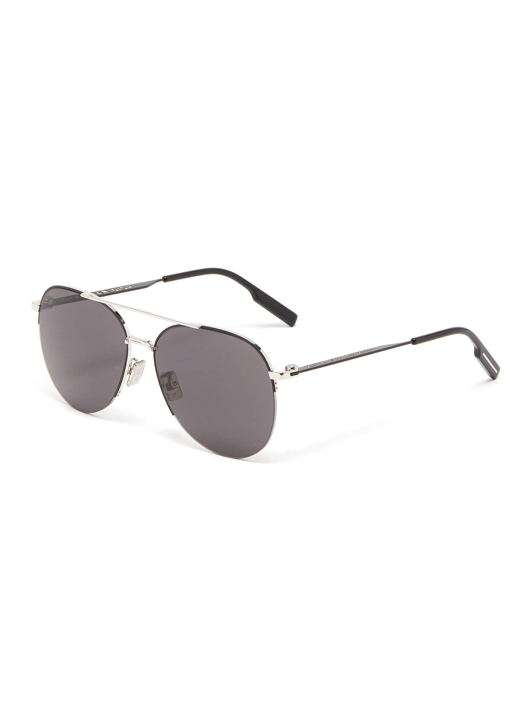 Dior Sunglasses 'DIOR180° AU' DOUBLE BRIDGE METAL FRAME AVIATOR SUNGLASSES