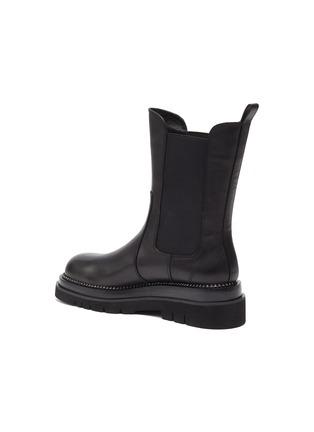 - PEDDER RED - 'Camden' Crystal Welt Platform Leather Chelsea Boots