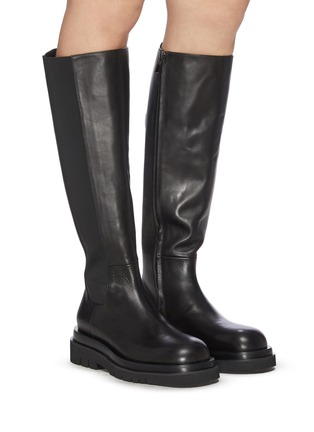 Figure View - Click To Enlarge - PEDDER RED - Westley' Platform Leather Boots