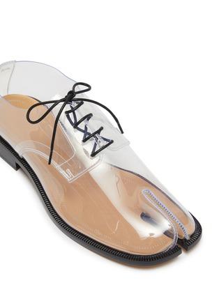 Detail View - Click To Enlarge - MAISON MARGIELA - 'Tabi' lace-up PVC flat derby shoes