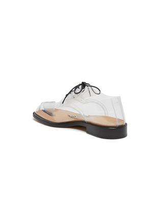 - MAISON MARGIELA - 'Tabi' lace-up PVC flat derby shoes