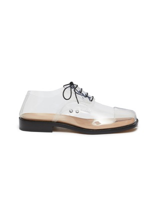 Main View - Click To Enlarge - MAISON MARGIELA - 'Tabi' lace-up PVC flat derby shoes