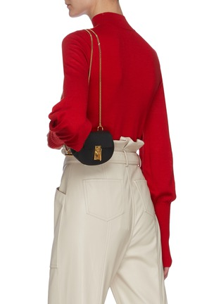 Front View - Click To Enlarge - CHLOÉ - 'Drew' leather crossbody backpack