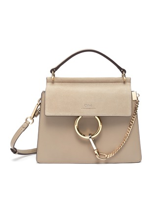 Main View - Click To Enlarge - CHLOÉ - 'Faye' small chain top handle bag