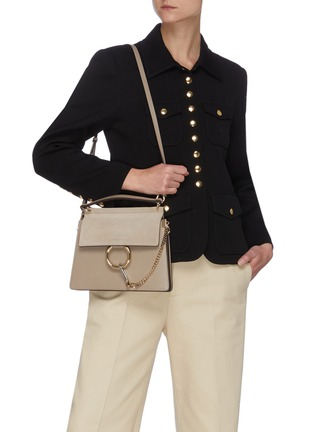 Figure View - Click To Enlarge - CHLOÉ - 'Faye' small chain top handle bag
