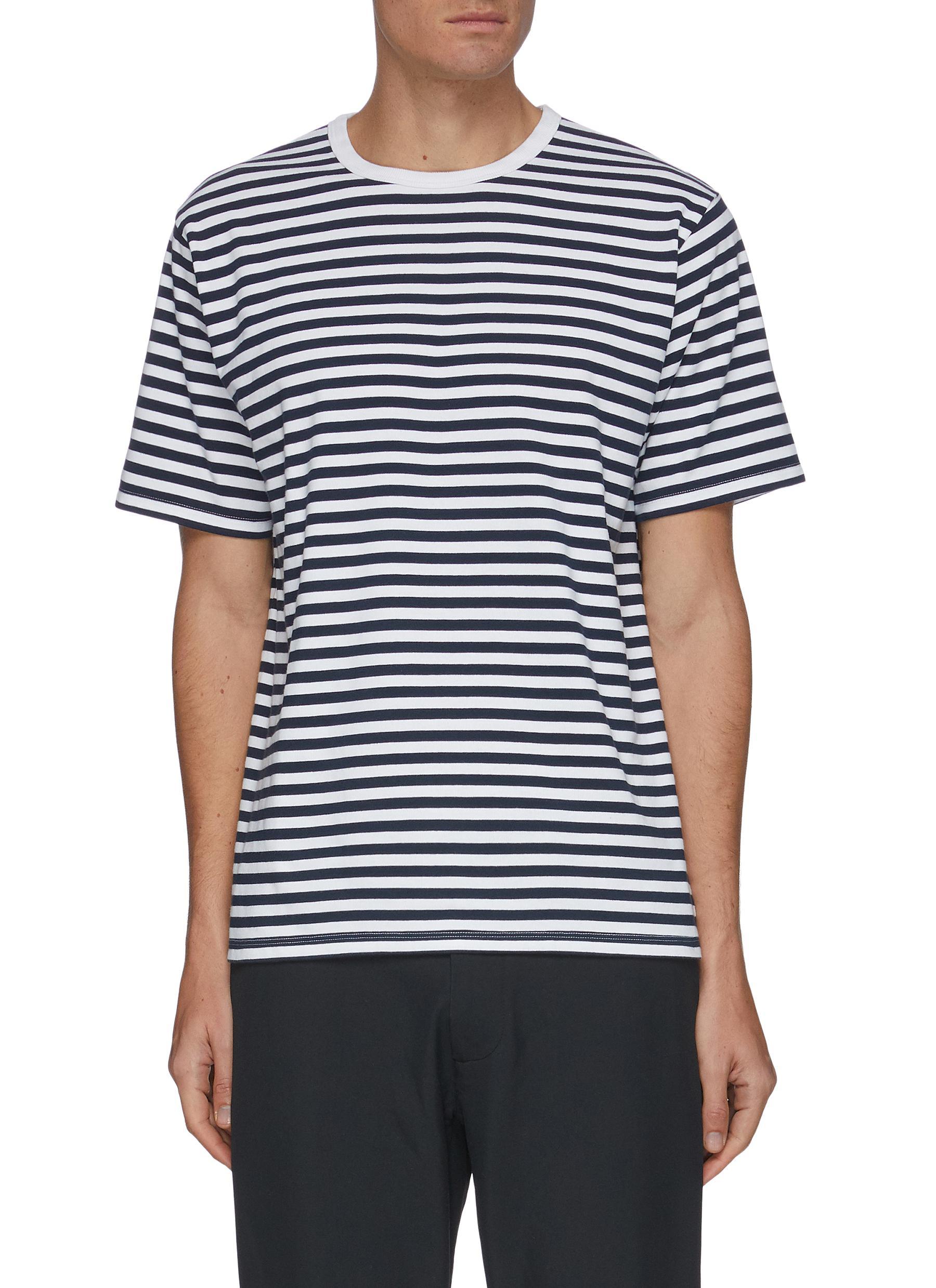 Nanamica T-shirts COOLMAX® STRIPE CREWNECK T-SHIRT