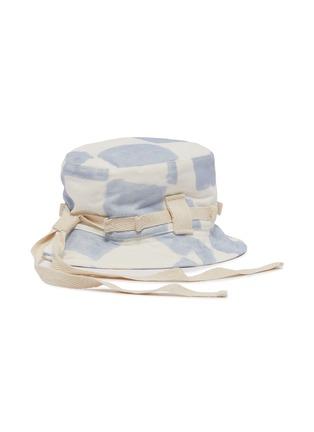 Figure View - Click To Enlarge - JACQUEMUS - Le Bob Grain' colour splash canvas bucket hat