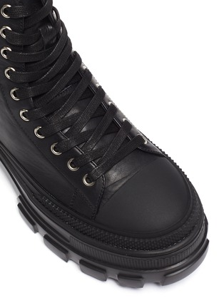 Detail View - Click To Enlarge - PEDDER RED - Hazel' Tread Platform Sole Leather Combat Boots