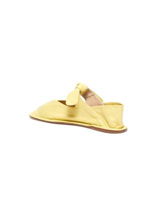 - HEREU - 'Llasda' Front Knot Detail Leather Ballet Flats