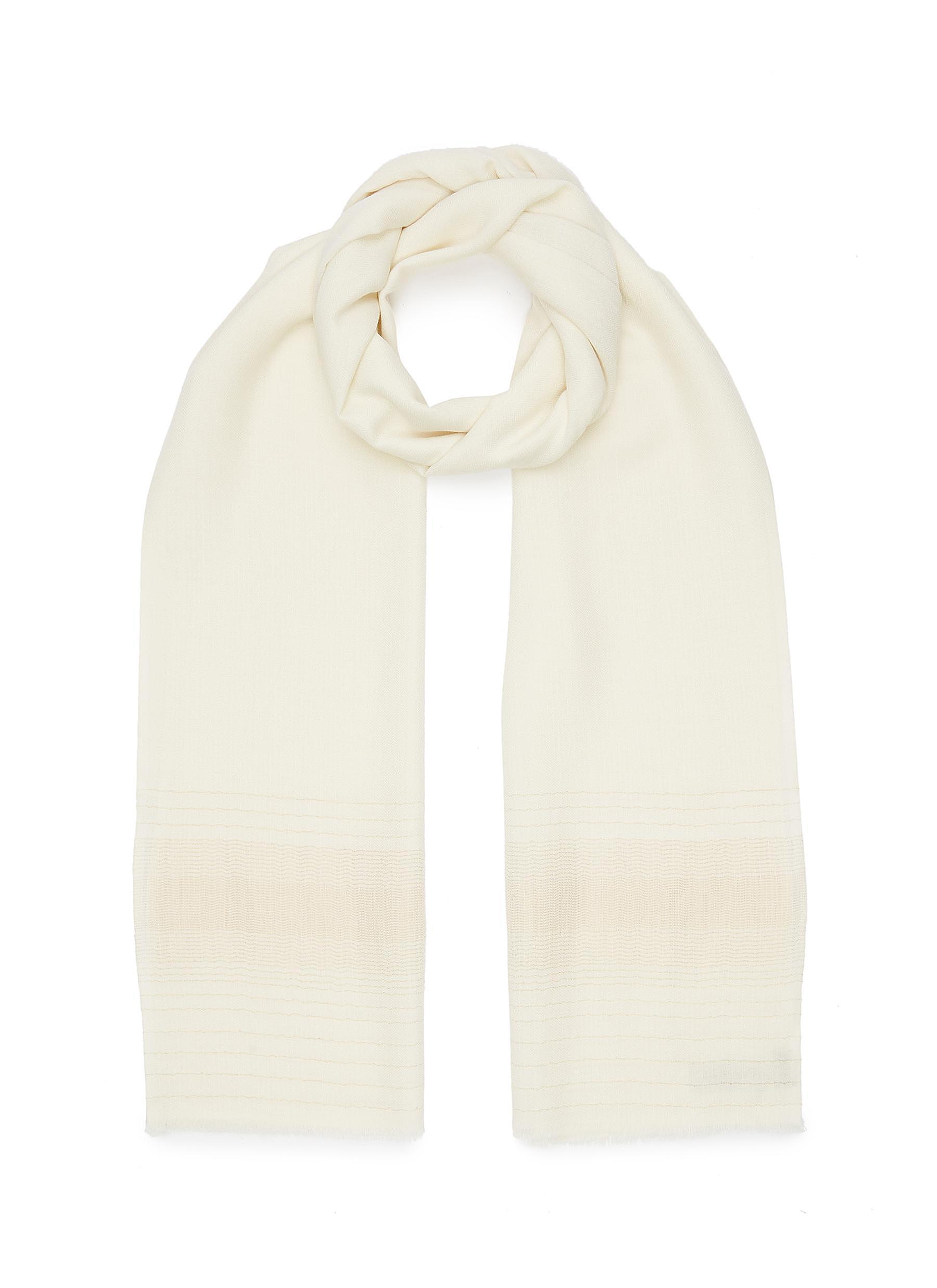 Shimmer Stripe Merino Wool Scarf
