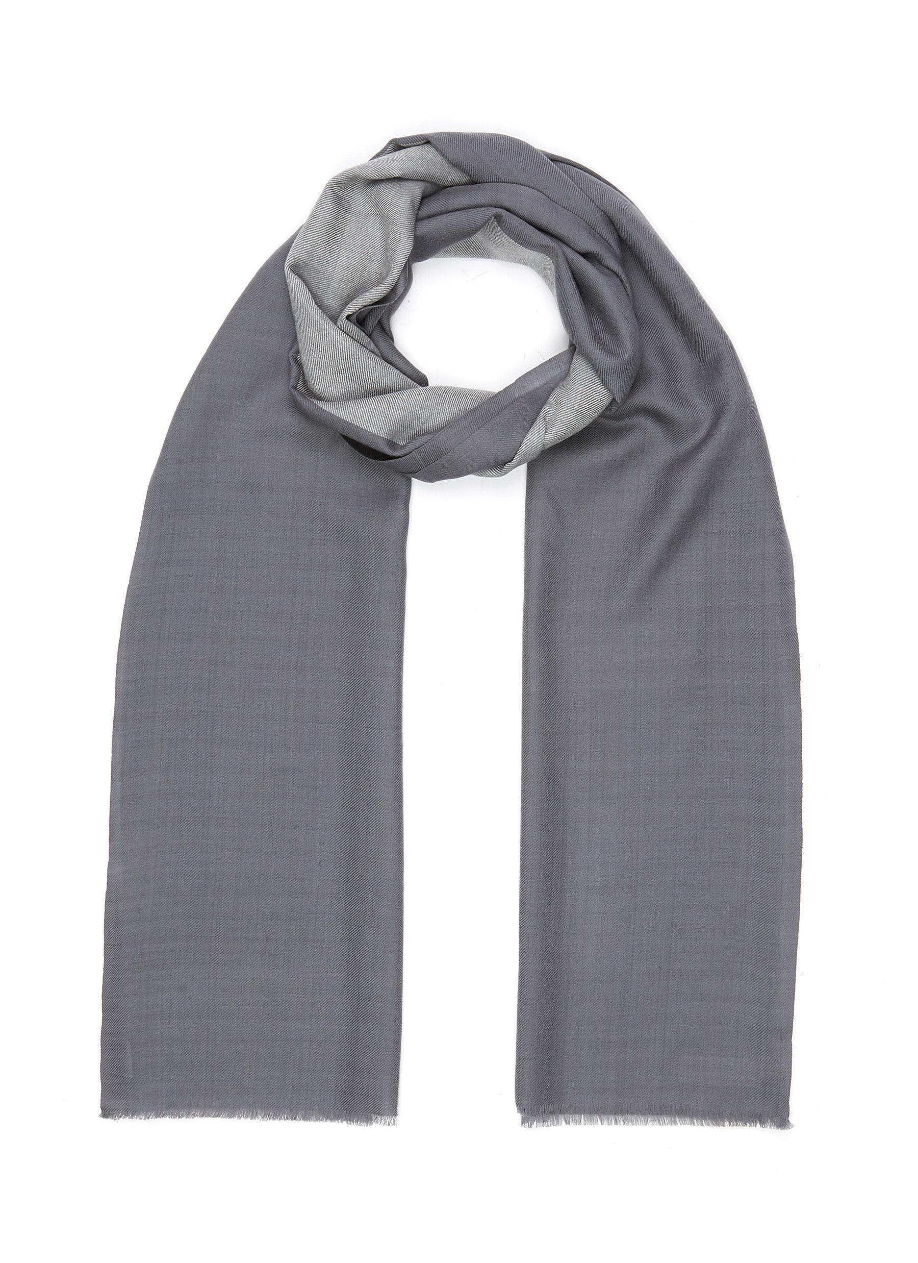 Block Stripe Merino Wool Stole