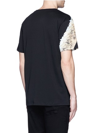 Back View - Click To Enlarge - Marcelo Burlon - 'Cruces' animal print T-shirt