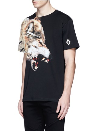 Front View - Click To Enlarge - Marcelo Burlon - 'Cruces' animal print T-shirt