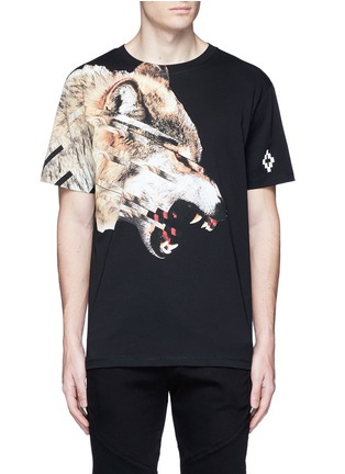 Main View - Click To Enlarge - Marcelo Burlon - 'Cruces' animal print T-shirt