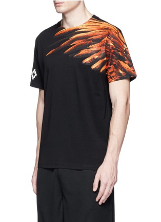 Front View - Click To Enlarge - Marcelo Burlon - 'Lonquimay' wing print T-shirt