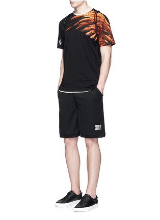 Figure View - Click To Enlarge - Marcelo Burlon - 'Lonquimay' wing print T-shirt