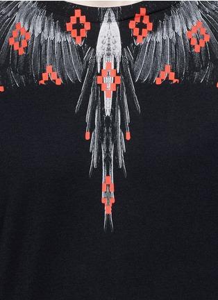 Detail View - Click To Enlarge - Marcelo Burlon - 'El Cruce' wing print T-shirt
