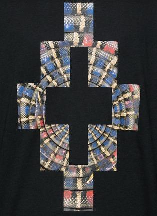Detail View - Click To Enlarge - Marcelo Burlon - 'Lastarria' psychedelic logo print T-shirt