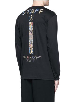 Back View - Click To Enlarge - Marcelo Burlon - 'Lastarria' psychedelic logo print T-shirt
