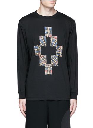 Main View - Click To Enlarge - Marcelo Burlon - 'Lastarria' psychedelic logo print T-shirt
