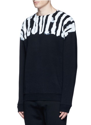 Front View - Click To Enlarge - Marcelo Burlon - 'Chachani' smoke print sweatshirt
