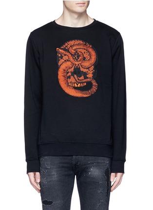 Main View - Click To Enlarge - Marcelo Burlon - 'Bayo' snake embroidery sweatshirt