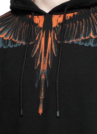 Detail View - Click To Enlarge - MARCELO BURLON - 'Cerro Blanco' wing print hoodie