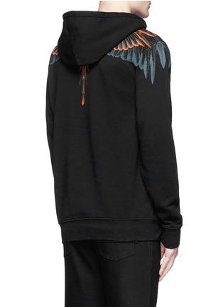 Back View - Click To Enlarge - MARCELO BURLON - 'Cerro Blanco' wing print hoodie