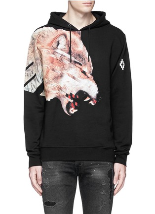 Main View - Click To Enlarge - Marcelo Burlon - 'Cruces' animal print hoodie