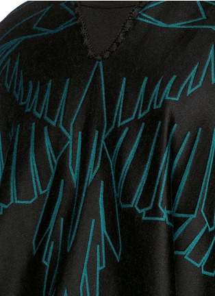 Detail View - Click To Enlarge - Marcelo Burlon - 'Aserel' reversible wing jacquard poncho