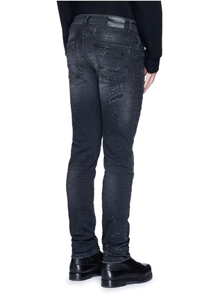 Back View - Click To Enlarge - Marcelo Burlon - Regular fit vintage wash jeans