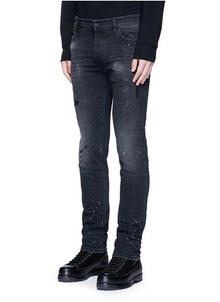 Front View - Click To Enlarge - Marcelo Burlon - Regular fit vintage wash jeans
